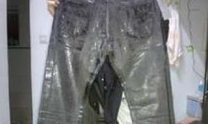 男子花6000元买Dior牛仔裤 洗完后黏在一起变成坨