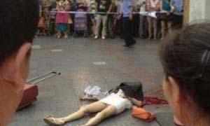 马翩然被杀现场图片 央视主播马翩然被男友家门口捅死