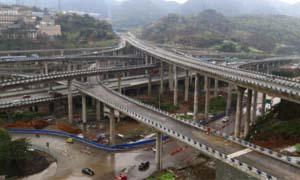 重庆最任性立交桥 山城高速路弯弯绕绕老司机直呼头晕