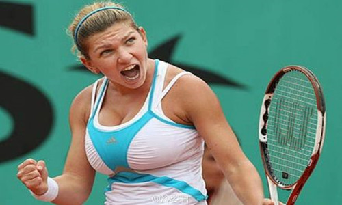 西莫娜•哈勒普缩胸    看出她对于自己网球事业的热爱