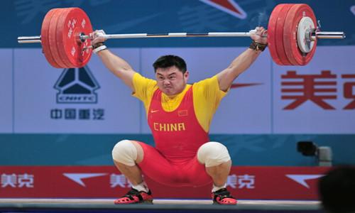 中国举重巨人杨哲        山东大汉威武雄壮